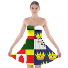 Arms Of Four Provinces Of Ireland  Strapless Bra Top Dress by abbeyz71