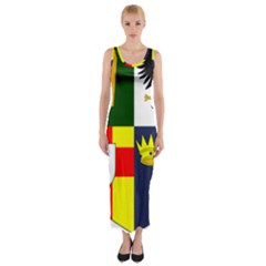 Arms Of Four Provinces Of Ireland  Fitted Maxi Dress by abbeyz71