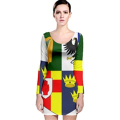 Arms Of Four Provinces Of Ireland  Long Sleeve Velvet Bodycon Dress by abbeyz71