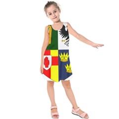 Arms Of Four Provinces Of Ireland  Kids  Sleeveless Dress by abbeyz71