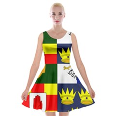 Arms Of Four Provinces Of Ireland  Velvet Skater Dress by abbeyz71