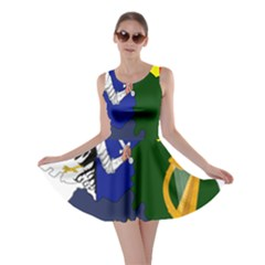 Flag Map Of Provinces Of Ireland Skater Dress by abbeyz71