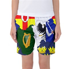 Flag Map Of Provinces Of Ireland Women s Basketball Shorts by abbeyz71