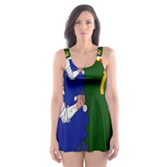 Flag Map Of Provinces Of Ireland Skater Dress Swimsuit by abbeyz71