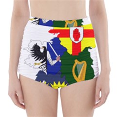 Flag Map Of Provinces Of Ireland High Waisted Bikini Bottoms by abbeyz71