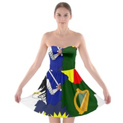 Flag Map Of Provinces Of Ireland Strapless Bra Top Dress by abbeyz71
