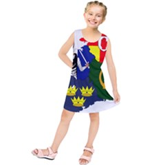 Flag Map Of Provinces Of Ireland Kids  Tunic Dress by abbeyz71