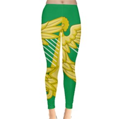 The Green Harp Flag Of Ireland (1642 1916) Leggings  by abbeyz71