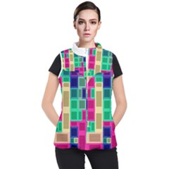 Rectangles And Squares        Women s Puffer Vest
