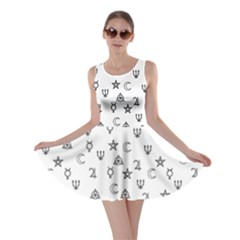 Witchcraft Symbols  Skater Dress by Valentinaart