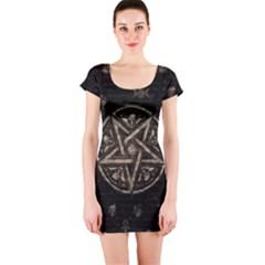 Witchcraft Symbols  Short Sleeve Bodycon Dress by Valentinaart
