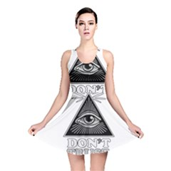 Illuminati Reversible Skater Dress by Valentinaart