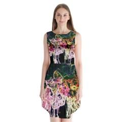 Colors Sleeveless Chiffon Dress   by Valentinaart