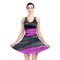 Green Pink Purple Black Stone Reversible Skater Dress by Mariart