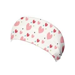 Love Heart Pink Polka Valentine Red Black Green White Yoga Headband