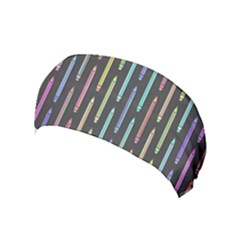 Pencil Stationery Rainbow Vertical Color Yoga Headband by Mariart