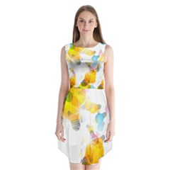 Lamp Color Rainbow Light Sleeveless Chiffon Dress   by Mariart