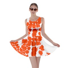 Red Spot Paint Skater Dress by Mariart