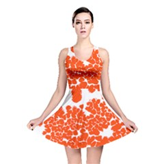 Red Spot Paint White Polka Reversible Skater Dress by Mariart