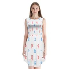 Source Serif Number Sleeveless Chiffon Dress   by Mariart