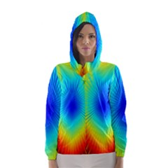 View Max Gain Resize Flower Floral Light Line Chevron Hooded Wind Breaker (women) by Mariart