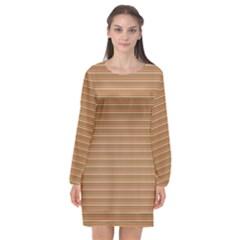 Lines Pattern Long Sleeve Chiffon Shift Dress  by Valentinaart