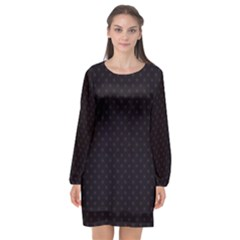 Dots Long Sleeve Chiffon Shift Dress  by Valentinaart