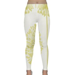 Flower Floral Yellow Classic Yoga Leggings by Mariart