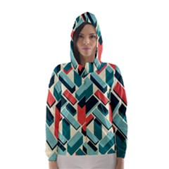German Synth Stock Music Plaid Hooded Wind Breaker (women) by Mariart