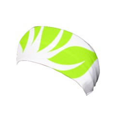 Leaf Green White Yoga Headband by Mariart