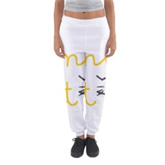Lemon Animals Cat Orange Women s Jogger Sweatpants by Mariart