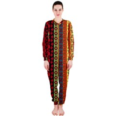 Tribal Grace Colorful Onepiece Jumpsuit (ladies)  by Mariart