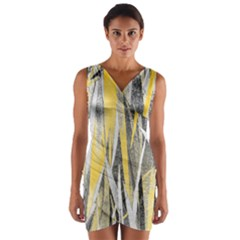 Abstraction Wrap Front Bodycon Dress by Valentinaart
