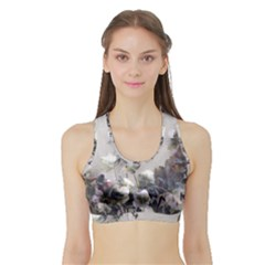 Watercolour Sports Bra With Border by DeneWestUK