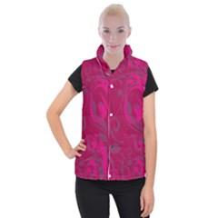 Floral Pattern Women s Button Up Puffer Vest