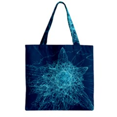 Shattered Glass Zipper Grocery Tote Bag by linceazul