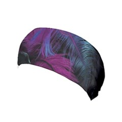 Feathers Quill Pink Black Blue Yoga Headband by Mariart
