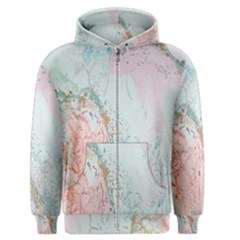 Geode Crystal Pink Blue Men s Zipper Hoodie by Mariart