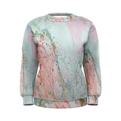 Geode Crystal Pink Blue Women s Sweatshirt by Mariart