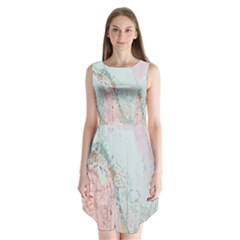 Geode Crystal Pink Blue Sleeveless Chiffon Dress   by Mariart
