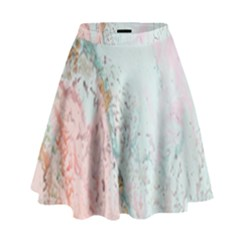 Geode Crystal Pink Blue High Waist Skirt by Mariart
