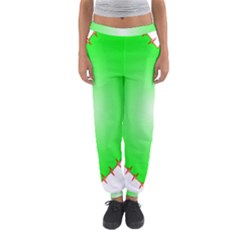 Heart Rhythm Inner Green Red Women s Jogger Sweatpants by Mariart