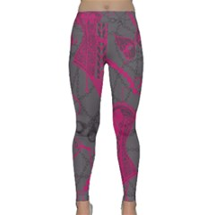 Pink Black Handcuffs Key Iron Love Grey Mask Sexy Classic Yoga Leggings by Mariart