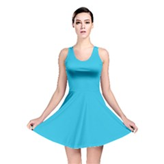 Neon Color   Brilliant Arctic Blue Reversible Skater Dress by tarastyle