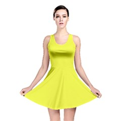 Neon Color   Brilliant Yellow Reversible Skater Dress by tarastyle