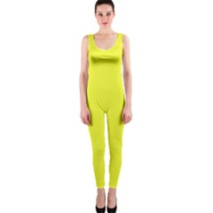 Neon Color   Brilliant Yellow Onepiece Catsuit by tarastyle