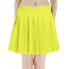 Neon Color   Brilliant Yellow Pleated Mini Skirt by tarastyle