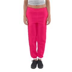 Neon Color   Luminous Vivid Crimson Women s Jogger Sweatpants by tarastyle
