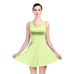 Neon Color   Pale Lime Green Reversible Skater Dress by tarastyle