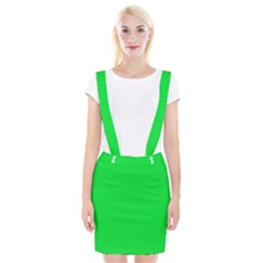 Neon Color   Vivid Malachite Green Braces Suspender Skirt by tarastyle